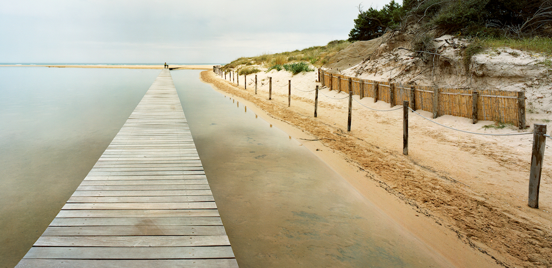 Etang de Su Giudeu - Accès piétonnier à la plage