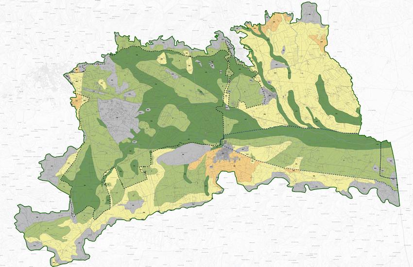 Sistema del patrimonio agroforestale e dell'agricoltura specializzata: orientamento all'uso agricolo del territorio
