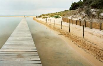 Su Giudeu pond - Pedestrian access to the beach